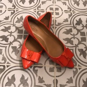 J.Crew Orange Patent Leather Flats